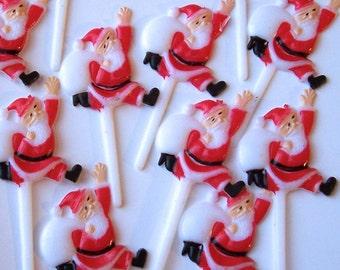 12 Santa Cupcake Picks