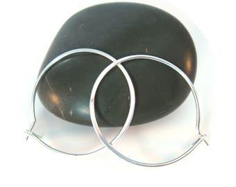 """One Inch Silver Hoop Earrings, 1"""" Sterling Silver Hoops"""