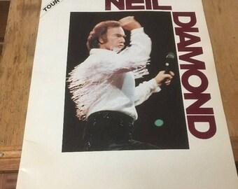 Neil Diamond 1986 Tour Program -Great Photos
