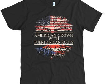 American Grown With Puerto Rican Roots T-Shirt