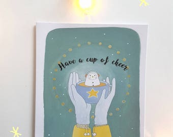 Cup of Cheer Christmas Card
