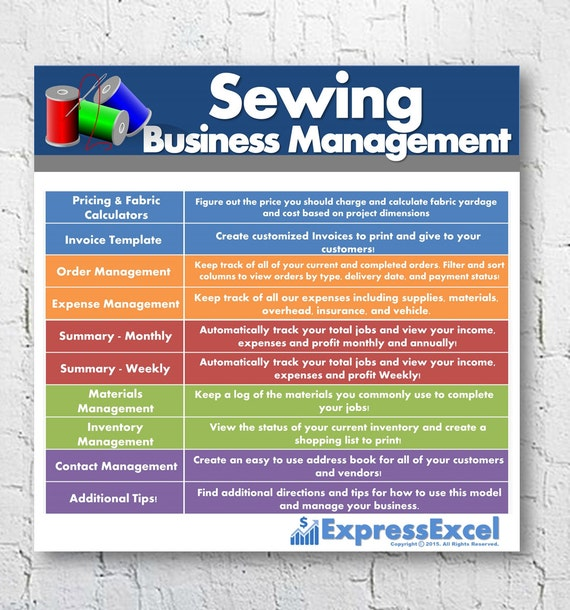 Sewing Alterations Business Management Software Order - Invoice inventory excel for service business