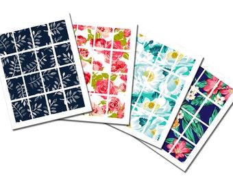 Pack 4 Full Boxes Erin Condren Floral