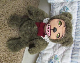 "OOAK Demonic Toys Tribute Creepy Teddy - ""Grizzly""- Custom Order (Deposit Only)"