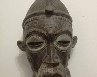Lulua original Mask African tribal art