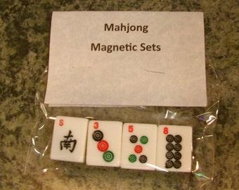 Mah Jong Set of 4 Magnetics