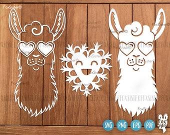 llama template etsy