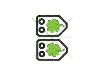 St. Patrick's Day SHAMROCK Shoe Charms Machine Embroidery In-Hoop Design 4x4 5x7 6x10 Goth Costume Clover Lucky Green Pinch Fantasy