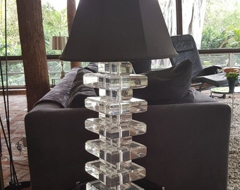 Substantial Lucite Table Lamp