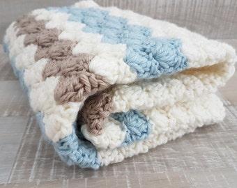 READY TO SHIP, Baby Blanket, Stroller Blanket, Pram Blanket, Baby Gift, Crib Blanket, Baby Boy Gift, Baby Boy, Baby Boy Bedding, Baby Afghan