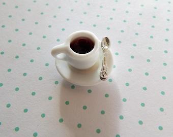 Miniature Cup of Coffee ~ Dollhouse Accessories 1:12  ~ Kitchen ~ Diorama ~ Fairy Garden