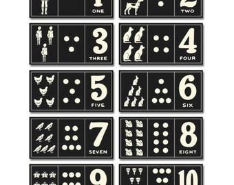 Jenni Bowlin: Vintage Number Card Set