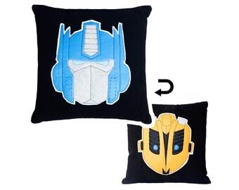 Transformers Reversible Designer Plush Pillow Optimus Prime/Bumblebee