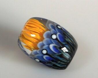 Diana - Lampwork focal lentil bead