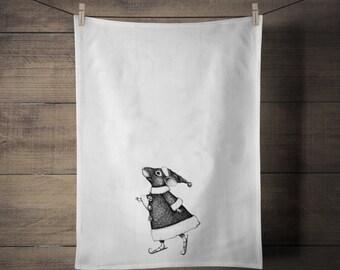 Tiny Tim Skater Mouse Tea Towel SPS333 - Holiday - Gift - Tableware - Housewares - Kitchen - Towel - Christmas - Hostess