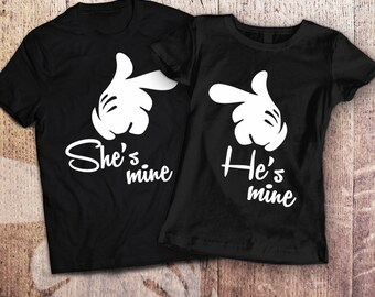 Couples disney shirts / matching couple shirts / boyfriend and girlfriend shirts / his and hers shirts / disney shirts for couples