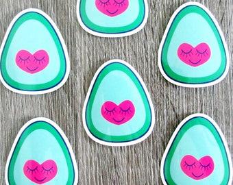 I Heart Avocado Vinyl Sticker