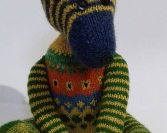 Teddy bear,  hand knitted toy