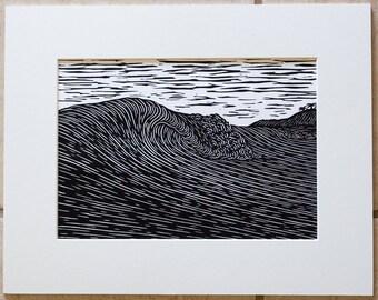 Giclee Art Print 'Beloved'  8x10 White Mat - Surf Art from Hawaii