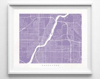 Saskatoon Map, Canada Print, Saskatoon Poster, Canada Art, Art Prints, Giclee Art Poster, Kids Room Decor, Wall Decor, Mothers Day Gift