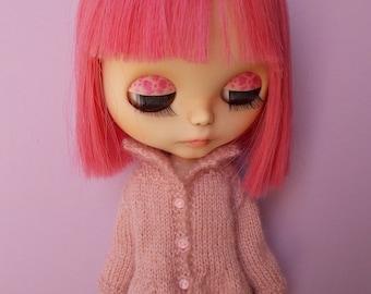 Handmade cardigan available for any kind of dolls (momoko, barbie, fashion royalty, pullip, blythe, bjd, kikipop, poppy parker...)