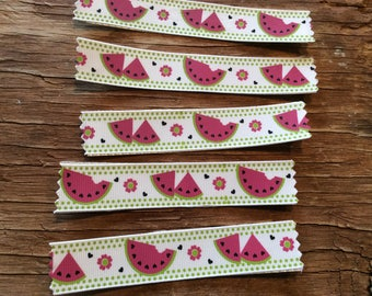 Watermelon hand made ribbon washi tape