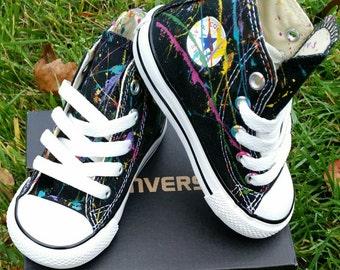 Kids Splatter Painted Custom Converse Sneakers