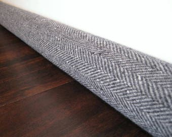 extended length wool door draft stopper cover, draft snake, draught excluder
