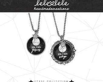 Necklace and pendant with zodiac signs and constellations