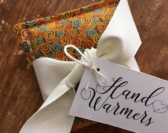 Cozy Flannel Swirling Monkey Hand Warmers with Vanilla Scented Flax Seed