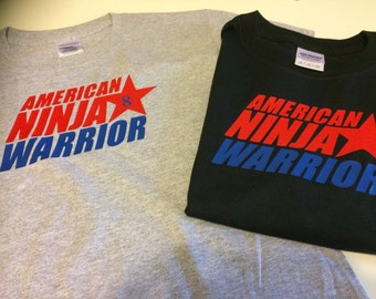 Party favors , kids shirts AMERICAN NINJA WARRIOR T-shirts