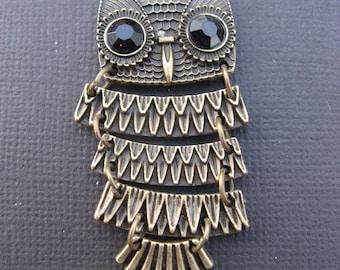 Articulated OWL pendant bronze 4.9 cm * 1