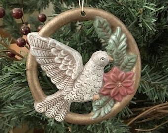 Bird Ornament, Christmas Bird Ornament, Christmas Ornament, Hand Painted Folk Art, Hand Painted Ornament, Birds, NewYorkTreasures on Etsy