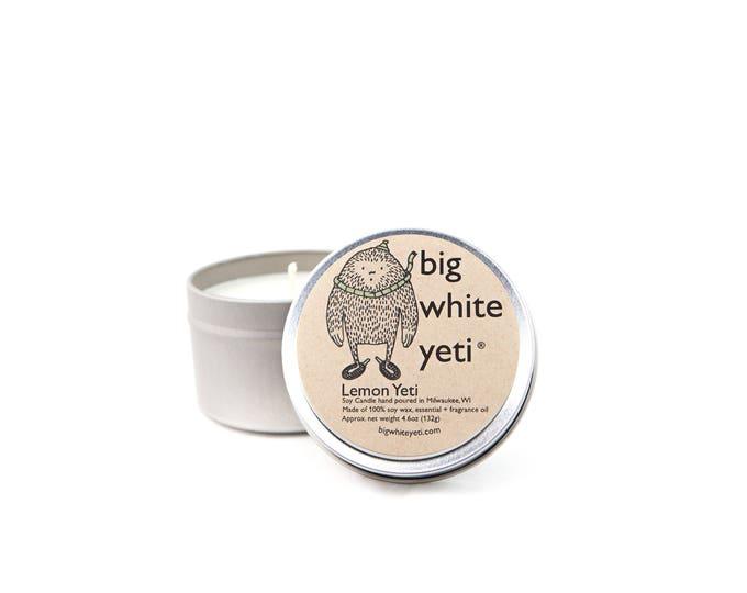 Lemon Yeti Soy Candle- 6 Ounce Tin