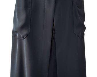 CHANEL Black Wrap Skirt (UK 6)