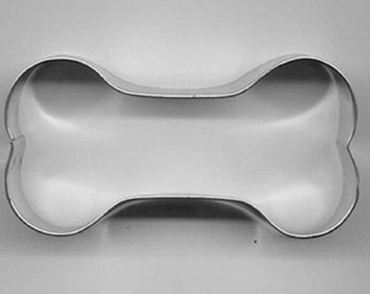 "Metal DOG BONE SHAPE Cookie Cutter 3 1/2"" set of 2"