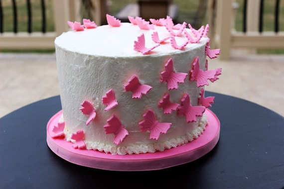 Fondant Butterflies Edible Butterflies Butterfly Cake
