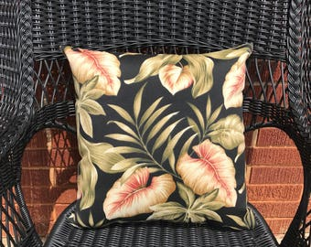 Lakefront Ebony Pillow Water Resistant