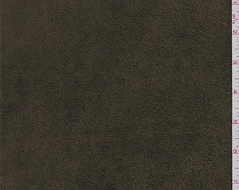 Olive Brown Fleece, Fabric By The Yard
