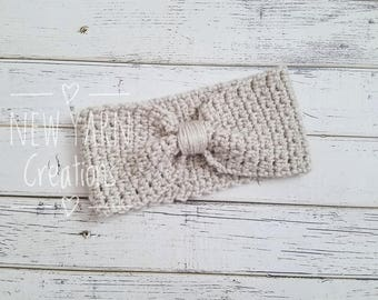 Ear Warmer Headband, Crochet Headband, Child Ear Warmer, Winter Headband, Ear Warmers, Earwarmer, Girl Ear Warmer, Knotted,  READY 2 SHIP