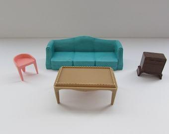 Plasco Toy Play House Furniture, Plasco Toys Furniture, Toy Furniture, 1960's Plasco Toy Furniture, Plasco Toys,Vintage Doll House Furniture