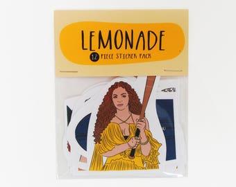 Lemonade Beyonce - 12 piece sticker set - Lemonade sticker pack - Beyonce sticker set - Beyonce stickers - Boy Bye - Formation - Queen Bey