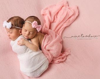 Baby Headbands, Newborn Headband, Baby Bow, Flower Headband, Baby Bows Headband, Pink Baby Bow, Baby Girl Flower Headband, bow headband, bow