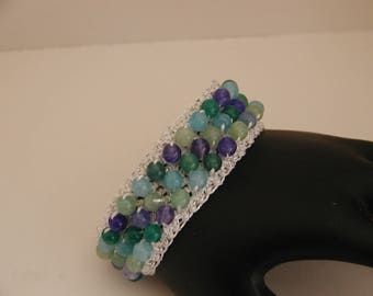Crocheted beaded Bracelet