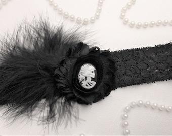 Gothic Skeleton Wedding Garter,Black Gothic Keepsake Garter,Wedding Accessories
