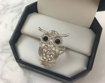 Owl Statement Fashion Ring (with adjustable band)