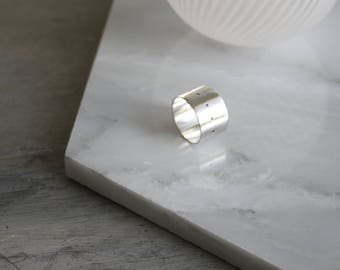 Silver band ring. Stackable ring. Gift for her.
