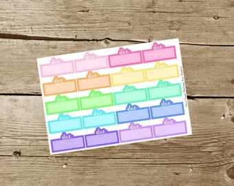 Due Planner Stickers