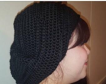 Black Slouchy Hat, Slouch, Beanie, Hats, Crochet Hat, Handmade