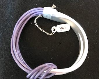 Unique  silver and purple bracelet